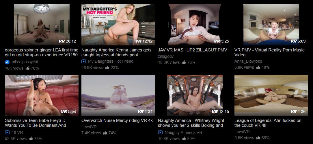 pornhub vr